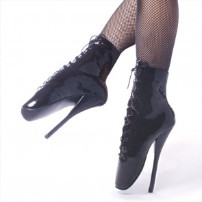 "Devious BALLET-1020 7"" Spike Heel Ballet Ankle Boots"