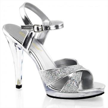 "Fabulicious FLA419G/S/C 4 1/2"" Heel, 1/2"" Platform Criss Cross Ankle Strap Sandal"