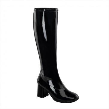 "Funtasma GOGO300WC/B 3"" Block Heel Wide Width, Plus Size Boot, Side Zip"
