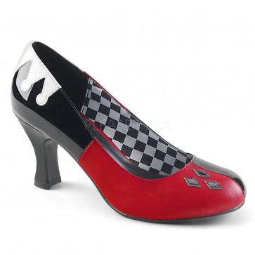 "Funtasma HAR42/BPT-RWPU 3"" Heel Round Toe Pump"