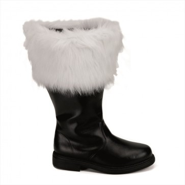 Funtasma SAN106WC/B/PU Wide Calf Santa Boots with Fur Cuff