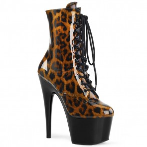 Pleaser ADORE-1020LP Brown-Blk Leopard Pat/Blk
