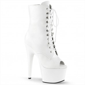 Pleaser ADORE-1021 Wht Faux Leather/Wht