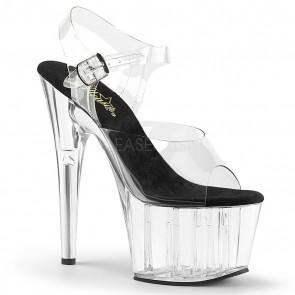 """Pleaser ADO708/C-B/C 7"""" Heel, 2 3/4"""" Platform Ankle Strap Sandal"""