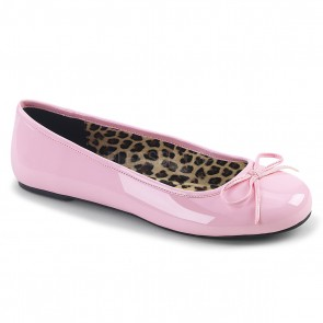 Pleaser Pink Label ANNA01/BP Ballet Flat W/ Bow Accent