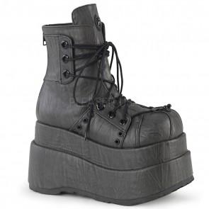 Demonia BEAR-120 Grey Textured Vegan Leather