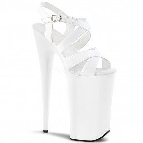 Pleaser BEYOND-097 Wht Pat/Wht