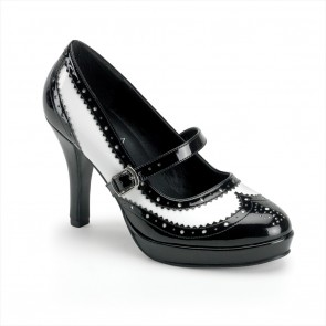"Funtasma CONT06/BW 4"" Gangster Mary Jane Shoe, Retro, Rock-A-Billy"