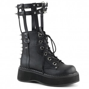 Demonia EMILY-357 Blk Vegan Leather