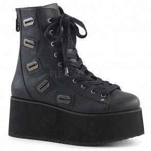 Demonia GRIP-103 Blk Faux Leather