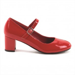 "Funtasma SCH50/R 2"" Heel Plain Mary Jane Schoolgirl Retro Shoe"
