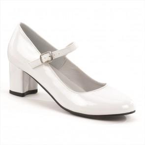 "Funtasma SCH50/W 2"" Heel Plain Mary Jane Schoolgirl Retro Shoe"