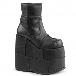 Demonia STACK-201 Blk Vegan Leather
