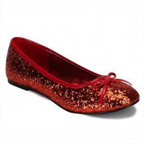 Funtasma STAR16G/R Adult Ballet Glitter Flat with Bow Accent, Fantasy, Fairy